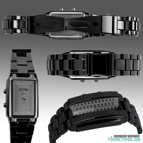 Мужские бинарные LED часы Skmei 1013