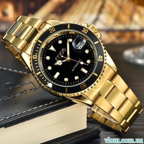 Мужские часы механика MCE gold
