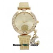 Женские золотые часы Роза стразы