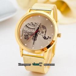 Женские золотые часы Слоник