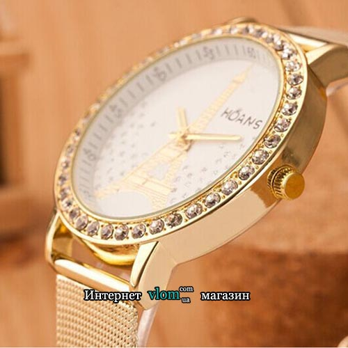 Женские золотые часы Hoans