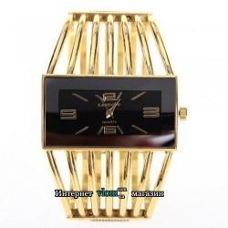 Женские золотые часы браслет Cansnow