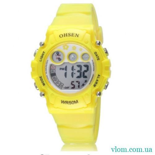 Женские спортивные часы OHSEN yellow