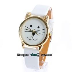 Часы добрый котик