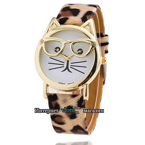 Часы кот в очках
