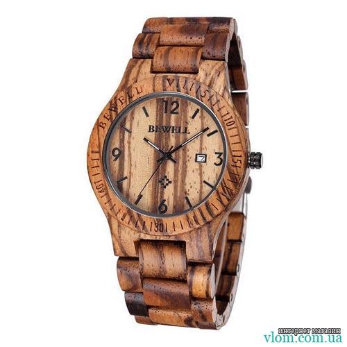 Деревянные часы BEWELL 2538