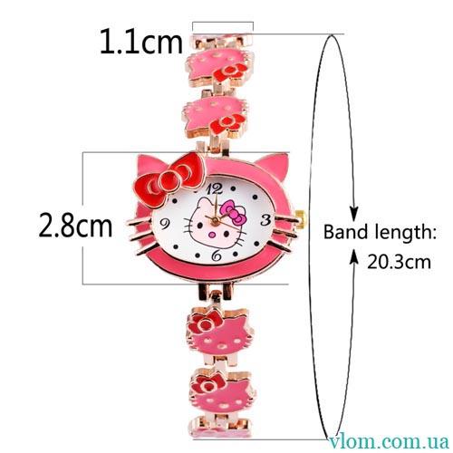Для ребенка кварцевые часы Hello Kitty для девочки