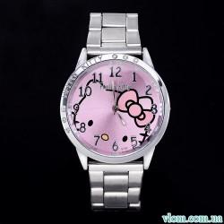 Для ребенка кварцевые часы Hello Kitty сталь для девочки