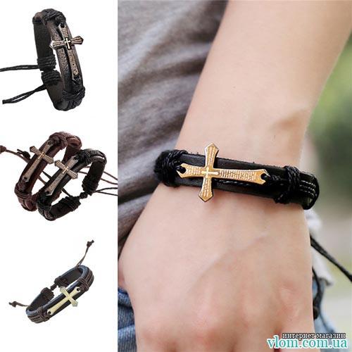 Мужской браслет Jiayiqi крест