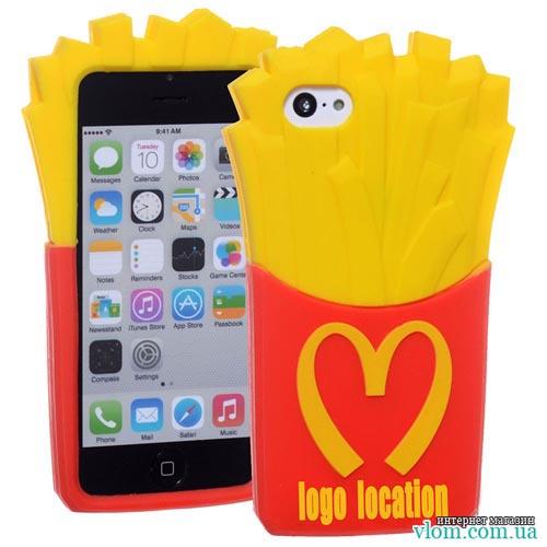 Чехол картошка фри Mcdonalds на Iphone 6/6s