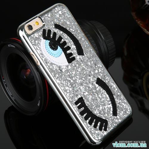 Чехол глаза стразы на Iphone 6/6s