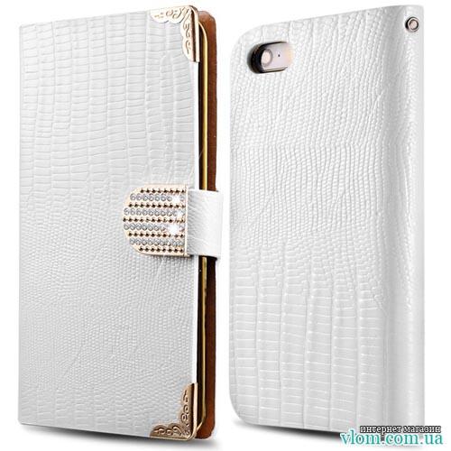 Чехол flip белая книжка для  Iphone 5/5s