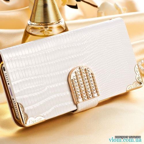 Чехол flip белая книжка Iphone 5/5s