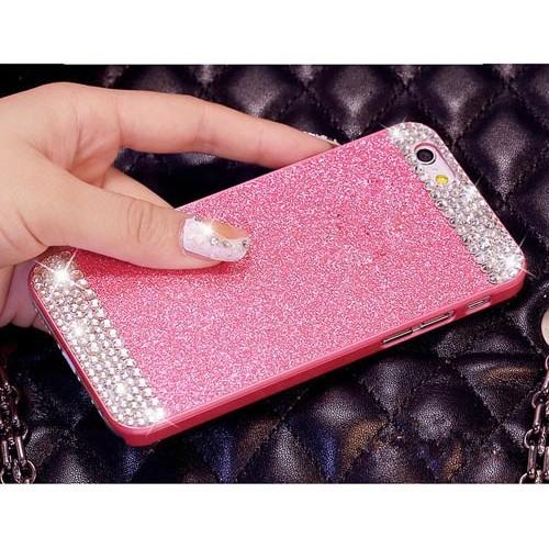 Чехол розовый стразы для  Iphone 5/5s
