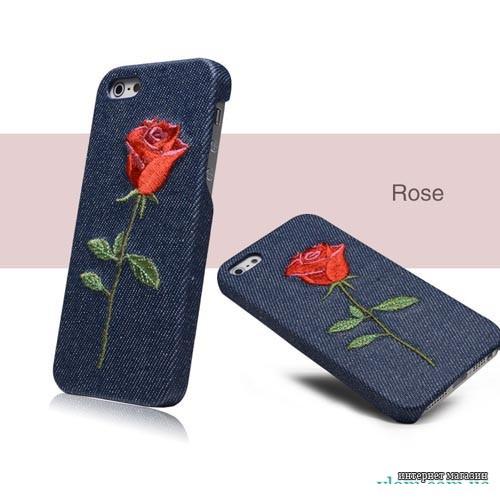 Чехол роза Denim для  Iphone 5/5s
