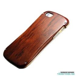 Чехол алюминий дерево бампер Iphone 5/5s
