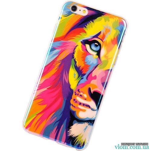 Чехол красочный лев на на Iphone 6/6s