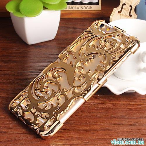 Чехол золотые узоры на на Iphone 6/6s