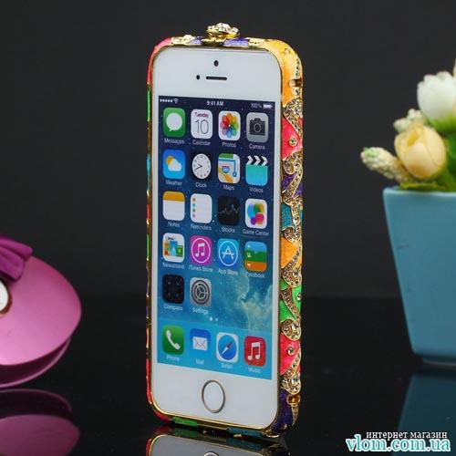 Чехол Czekh бампер кристаллы на для  Iphone 5/5s