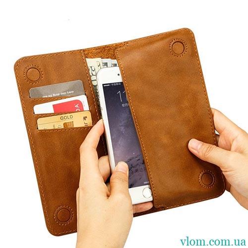 Чехол Jisoncase кожаный кошелек на на Iphone 6/6s