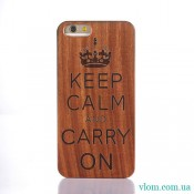 Чехол Деревянный Keep Calm на Iphone 6/6s;