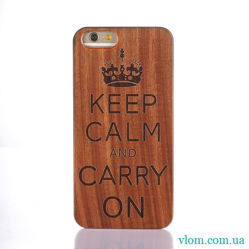 Чехол Деревянный Keep Calm на на Iphone 6/6s;