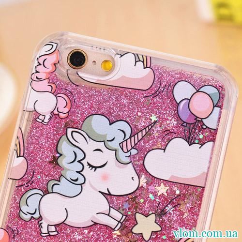 Чехол розовый единорог на Iphone 7/8 PLUS