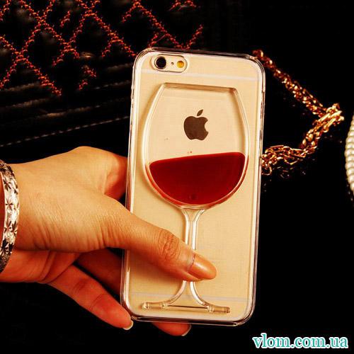 Чехол бокал вина на Iphone 7/8