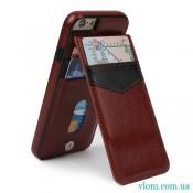 Чехол кожаный бумажник на Iphone 7/8 PLUS