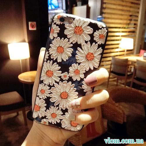 Чехол объемные ромашки на Iphone 7/8 PLUS