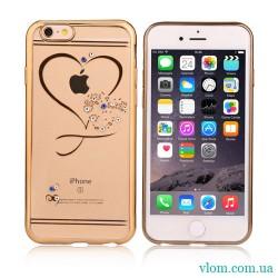 Чехол сердце со стразами на Iphone 7/8 PLUS