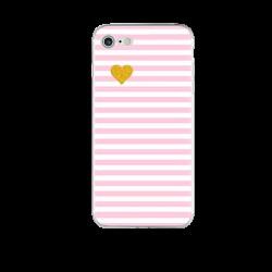Чехол розовые полоски на Iphone 7/8 plus