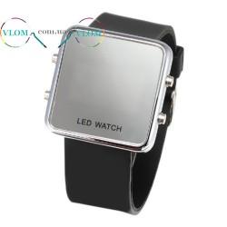 Мужские зеркальные LED часы