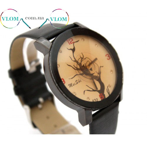 Женские оригинальные часы Дерево