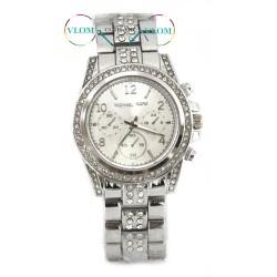 Женские серебристые часы Michael Kors стразы